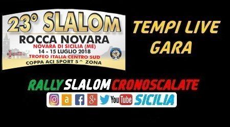 Tempi Live - Programma - Planimetria Percorso - Elenco Iscritti - 23°Slalom Rocca Novara.