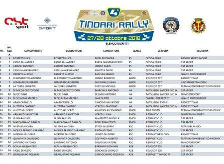 Elenco Iscritti 4°Tindari Rally.