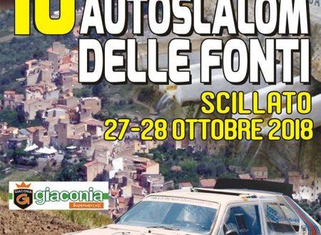 Il 10°Slalom Fonti Scillato va al 27-28 Ottobre.