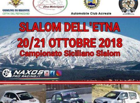Prossimo appuntamento Slalom dell'Etna.