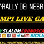 Tempi Live - 20 Rally dei Nebrodi.