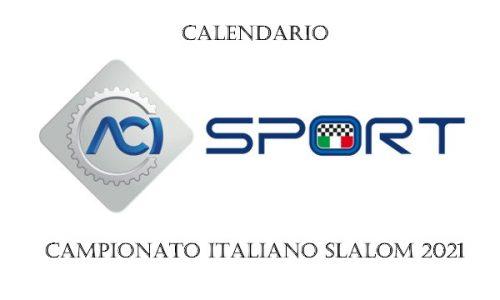 Calendario Campionato Italiano Slalom 2021.
