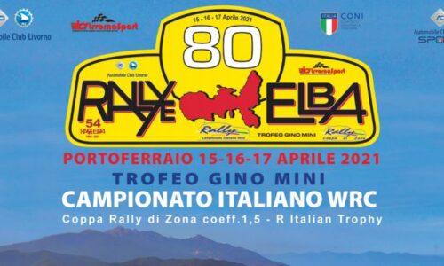 """Elenco Iscritti 54°esimo Rallye Elba """" Trofeo Gino Mini""""."""