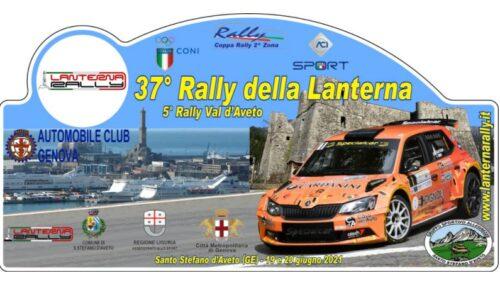 Elenco Iscritti 37°esimo Rally della Lanterna.